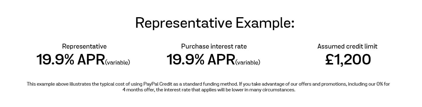 Representative finance offer example