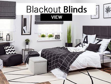 Blackout roman blinds made to measure