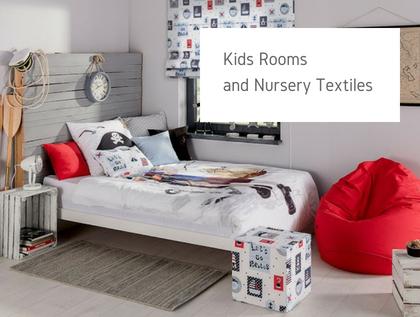 Kids room and nursery textiles