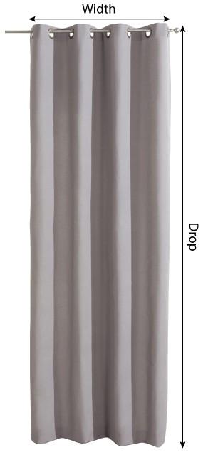 Eyelet curtains measurement