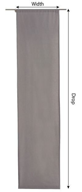 Slot panel curtains – 2 pcs measurement