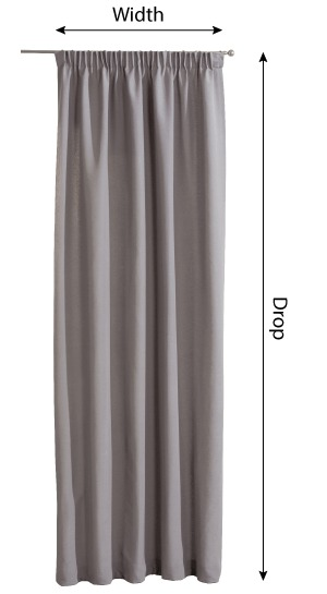 Pencil pleat curtains measurement