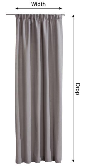 Pencil pleat curtains measurement
