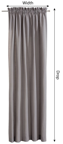 Slot and frill curtains measurement