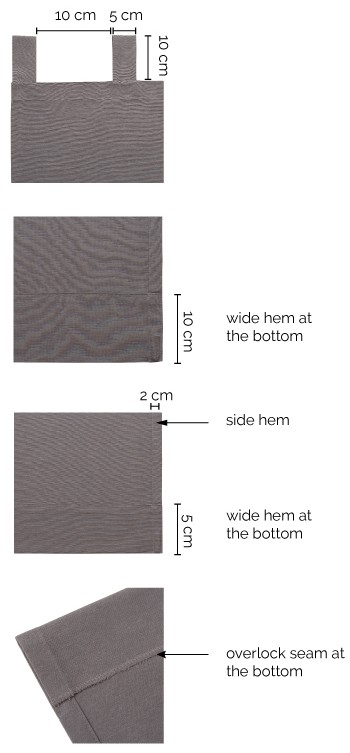Tab top curtains details